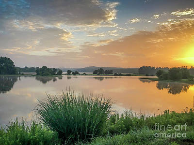 Photograph - Early Morning Sunrise On The Lake by Ken Johnson
