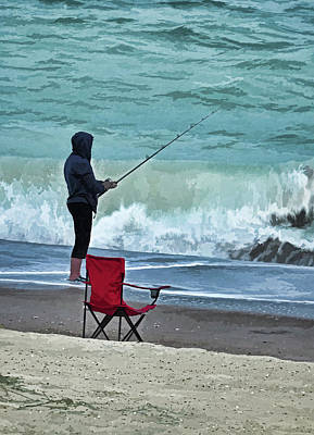 Photograph - Early Morning Surf Fishing by Sandi OReilly