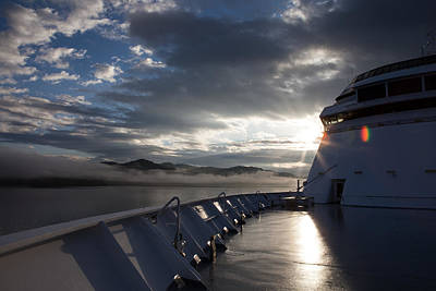 Photograph - Early Morning Travel To Alaska by Yvette Van Teeffelen