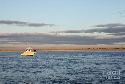 Photograph - Early Morning Trolling For Striped Bass by John Telfer