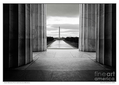 Gregory Ohanlon Photograph - Early Morning View From Lincioln Memorial by Gregory O'Hanlon