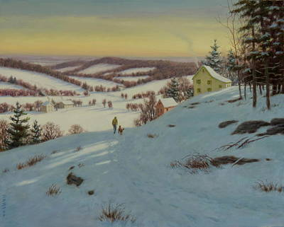 Early Morning Walk Original by Barry DeBaun