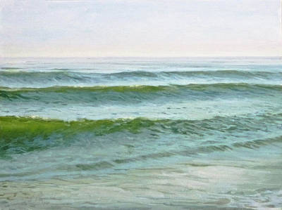 Painting - Early Morning Waves by Ellen Paull