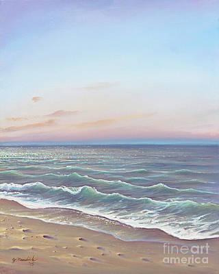 Painting - Early Morning Waves by Joe Mandrick