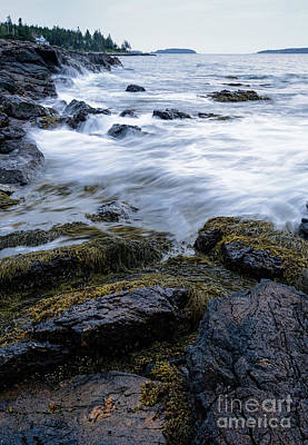 Photograph - Early Morning Waves, Port Clyde, Maine  -97470 by John Bald