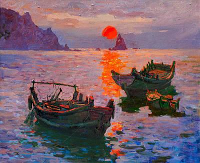 Early Morning Art Print by Xichang Sun