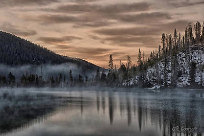 Photograph - Early Morning Yellowstone by CR  Courson