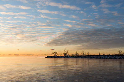 Early Morning Zen - Meditating On The Waterfront At Sunrise Art Print
