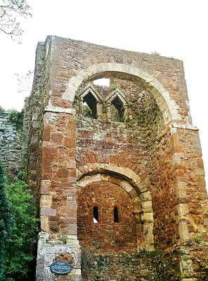 Photograph - Early Norman Gatehouse Rougemont Castle by Richard Brookes