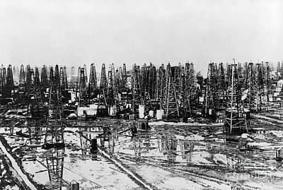 Photograph - Early Oil Field by Granger