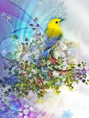 Digital Art - Early Promise Of Spring by Maria Urso