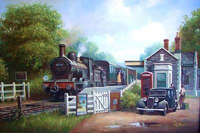 Painting - Early Railway Painting. by Mike Jeffries