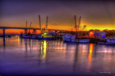 Early Readiness Tybee Island Georgia Shrimp Boat Art Art Print