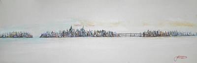 New York City Skyline Painting - Early Skyline by Jack Diamond