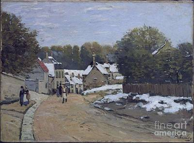 1870-71 Painting - Early Snow At Louveciennes by MotionAge Designs