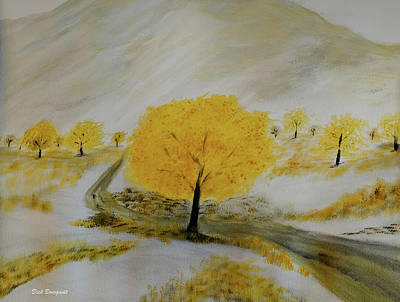 Painting - Early Snow by Dick Bourgault