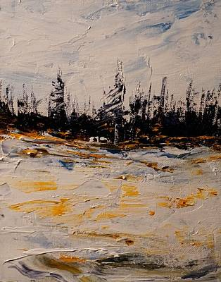 Painting - Early Snow - Interlake by Desmond Raymond
