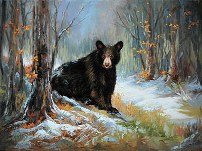 Smokey Mountains Painting - Early Snow by Katherine Tucker
