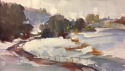 Painting - Early Snow by Marty Coulter