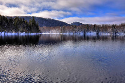 Photograph - Early Snow On West Lake by David Patterson