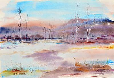 Wa Painting - Early Spring At Reecer Creek by John Ressler