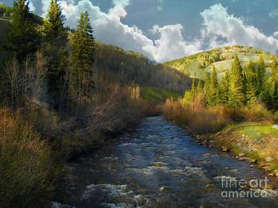 Early Spring Delores River Art Print by Annie Gibbons
