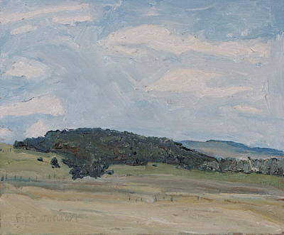 Eastern Townships Painting - Early Spring Hill by Francois Fournier