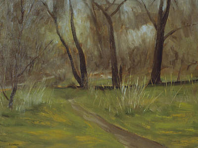 Painting - Early Spring In Central Park by Robert Holden