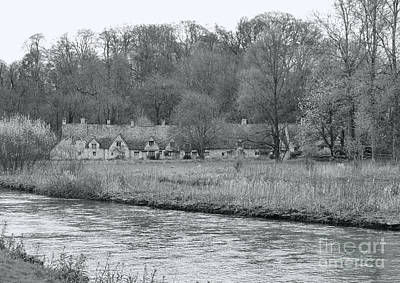 Early Spring In England Black And White Art Print