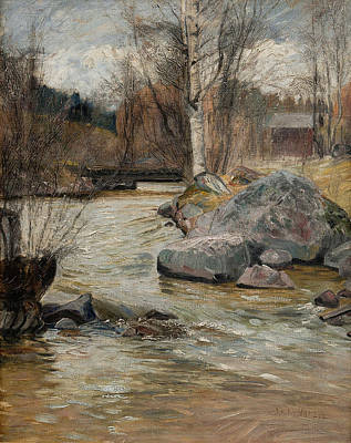 Early Spring Painting - Early Spring by Juho Kyyhkynen