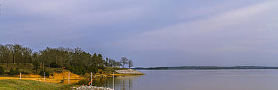 Photograph - Early Spring Lakeside Landscape Panorama by Barry Jones
