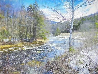Digital Art - Early Spring Landscape by Rusty R Smith