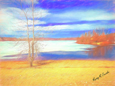 Digital Art - Early Spring On A Connecticut Lake. by Rusty R Smith