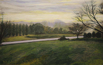 Painting - Early Spring On Ernie Lane by Ron Richard Baviello