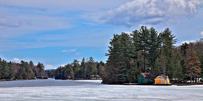 Panorama Photograph - Early Spring On Old Forge Pond by David Patterson