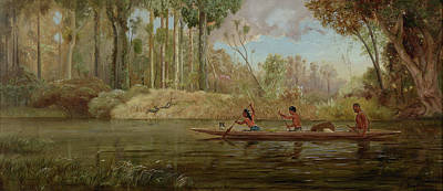 Early Spring Painting - Early Spring  Or,a Narrow Of The Waikato River by Kennett Watkins