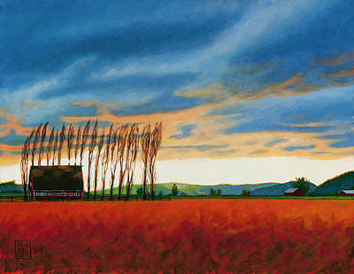 Painting - Early Spring, Skagit Valley by Stacey Neumiller