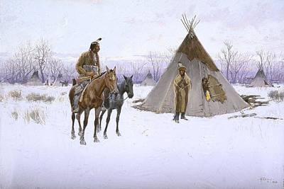 American Indian Painting - Early Start by Celestial Images