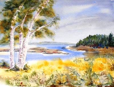 Painting - Early Summer Birches by Diane Kirk