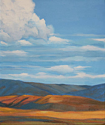Wall Art - Painting - Early Summer Blue Hills by Pam Little
