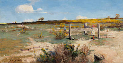 Australian Landscape Painting - Early Summer - Gorse In Bloom by Arthur Streeton