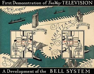 Early Video Phone System, 1930 Art Print