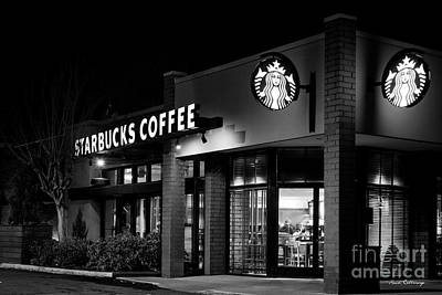 Photograph - Early Wakeup 2 Starbucks Coffee Buckhead Atlanta Art by Reid Callaway
