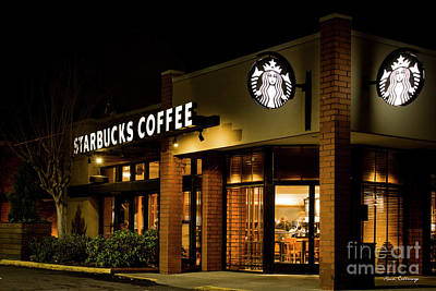 Photograph - Early Wakeup Starbucks Coffee Buckhead Atlanta Art by Reid Callaway