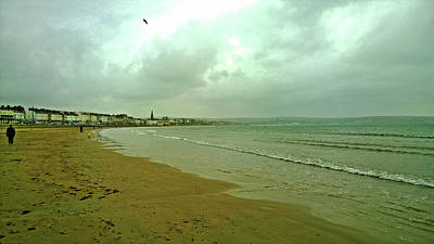Photograph - Early Walk Weymouth Beach by Anne Kotan