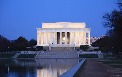 Basketball Patents - Early Washington Mornings - The Lincoln Memorial by Ronald Reid