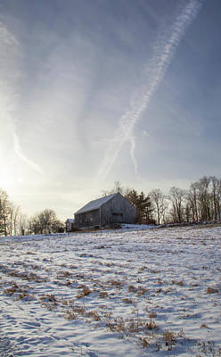 Photograph - Early Winter Barn by Michael Friedman
