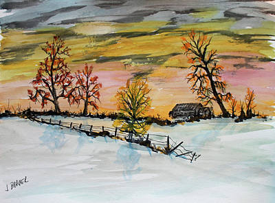 Painting - Early Winter by Jack G Brauer