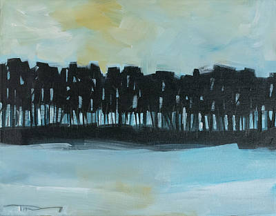 Painting - Early Winter Treeline by Tim Nyberg