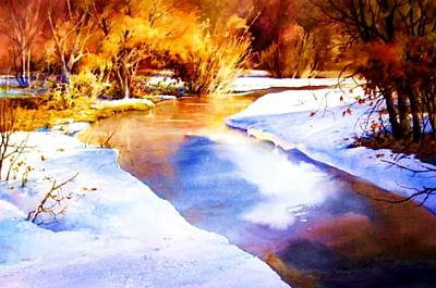 Painting - Early Wyoming Snow by Joseph Barani